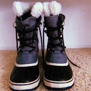 Sorel grey snow boots